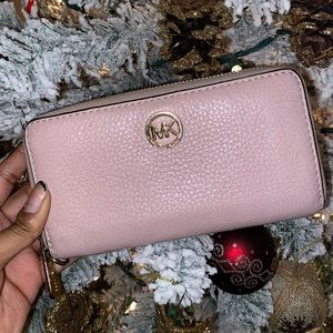 MK baby pink wallet